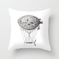 Airfish Express Throw Pillow