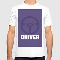 Driver Mens Fitted Tee White SMALL