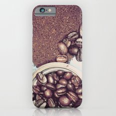 Coffee Beans and Coffee Ground iPhone 6 Slim Case