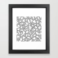 Abstraction Lines Black … Framed Art Print