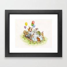 Birthday Party Picnic Framed Art Print
