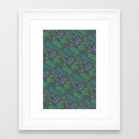 Nugs In Green Framed Art Print