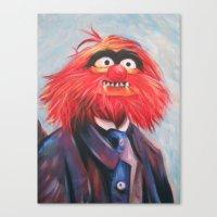 Portrait Of An Animal Canvas Print