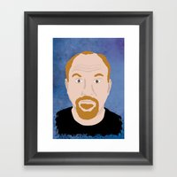 Louis CK Framed Art Print