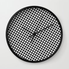 Houndstooth (Pepita) Wall Clock