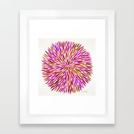Pink Watercolor Burst Framed Art Print