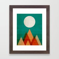 Full Moon Over Sahara De… Framed Art Print