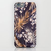 Golden oriental palms iPhone 6 Slim Case