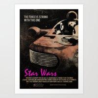 Star Wars X Drive Art Print