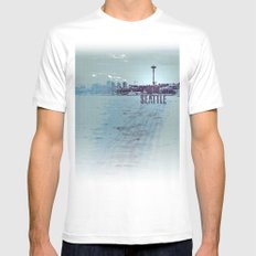 Seattle blues Mens Fitted Tee White SMALL
