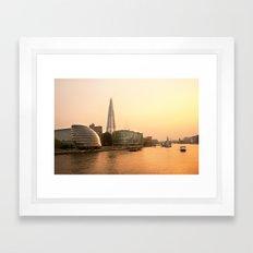 Sunset on River Thames Framed Art Print