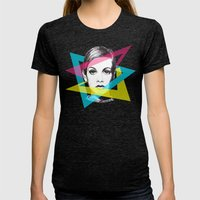 Twiggy Womens Fitted Tee Tri-Black SMALL