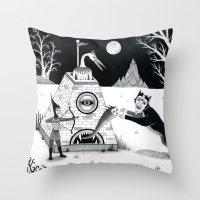 Night Attack Throw Pillow