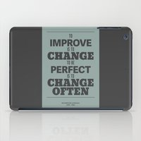 'To Improve Is To Change… iPad Case