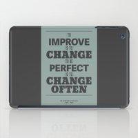 'To Improve Is To Change… iPad Case