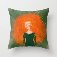 Merida from Brave (Pixar - Disney) Throw Pillow
