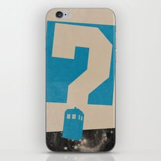 Doctor  Who? iPhone & iPod Skin