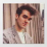 Morrissey Pantone Pop Portrait Canvas Print