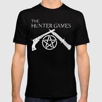 The Hunter Games Mens Fitted Tee Black SMALL