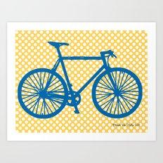 La Bicicletta  Art Print