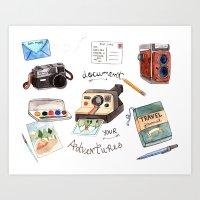 Document Your Adventures Art Print