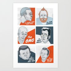 The Faces of New Fathers Art Print