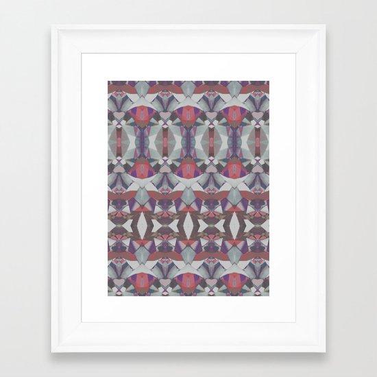 Tribal splash Framed Art Print