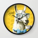 The Fancy Llama Wall Clock