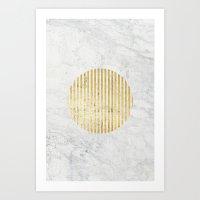 gOld sun Art Print
