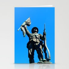 Statue Honoring Soldiers from WW1 Stationery Cards