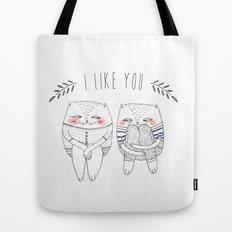 I like you cat Tote Bag
