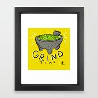 Grind Time Framed Art Print