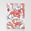 Fox Pattern Stationery Cards