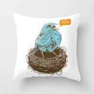 Twisty Bird Throw Pillow