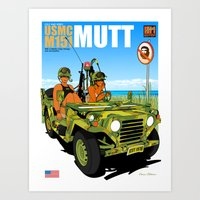 Marine Corps Honeys - Camo Edition Art Print