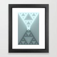 Triangles Glow Framed Art Print