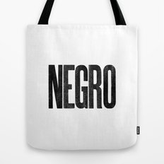 Voy de negro — Letterpress (White) Tote Bag