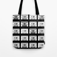 Black and White Tapes Tote Bag