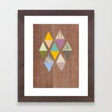 Easy Diamonds Framed Art Print