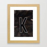 - K - Framed Art Print