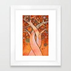 whimsy tree Framed Art Print