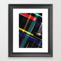 Line Pattern Framed Art Print