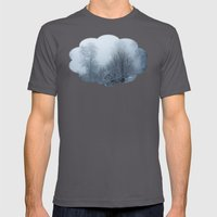 A Walk Through Fog And S… Mens Fitted Tee Asphalt SMALL