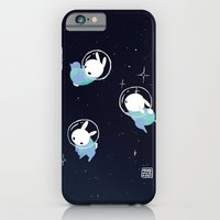 iPhone Cases featuring Space Bunnies by Maike Vierkant