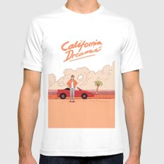 California Dreamin´ Mens Fitted Tee White SMALL
