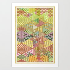A FARCE / PATTERN SERIES 003 Art Print