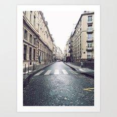 Rainy Day In Le Marais Art Print