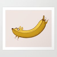 Banana Dog Art Print