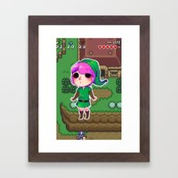 Link to the past Framed Art Print