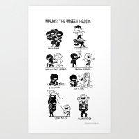 The Unseen Helpers Art Print